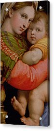 The Madonna Of The Chair Acrylic Print by Raphael