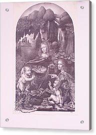 The Madonna On The Rocks Acrylic Print