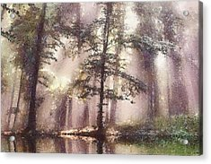 The Magic Forest Acrylic Print by Odon Czintos