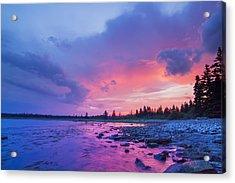 The Magic Hour In Acadia National Park Acrylic Print