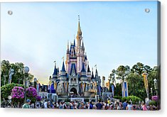 The Magic Kingdom Castle On A Beautiful Summer Day Horizontal Acrylic Print by Thomas Woolworth