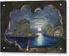 The Magic Lake Circa 1856  Acrylic Print by Aged Pixel
