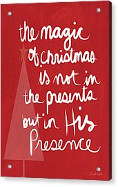 The Magic Of Christmas- Greeting Card Acrylic Print
