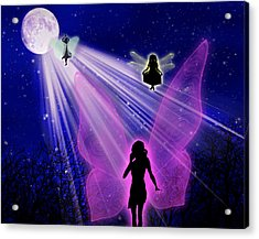 Acrylic Print featuring the painting The Magic Of The Moon by Persephone Artworks