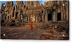 The Magical Light Of Bayon  Acrylic Print by Pete Reynolds