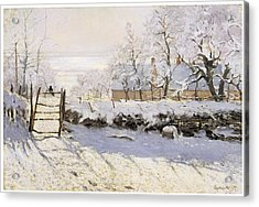 The Magpie Snow Effect Acrylic Print by Claude Monet