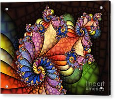 The Maharajahs New Hat-fractal Art Acrylic Print