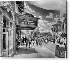 Acrylic Print featuring the photograph The Main Street Cinema by Howard Salmon