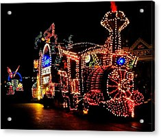 The Main Street Electrical Parade Acrylic Print by Benjamin Yeager
