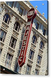 Acrylic Print featuring the photograph The Majestic Theater Dallas #2 by Robert ONeil