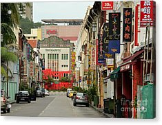 Acrylic Print featuring the photograph The Majestic Theater Chinatown Singapore by Imran Ahmed