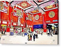 The Mall Acrylic Print by Peter Waters