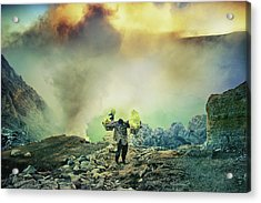 The Man From Green Crater Acrylic Print by Ismail Raja Sulbar