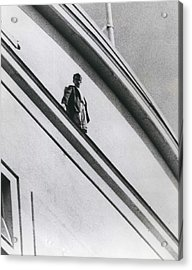The Man In Love Is Saved From A Parapet Acrylic Print by Retro Images Archive