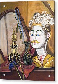 Acrylic Print featuring the painting The Man In The Mirror by Susan Culver