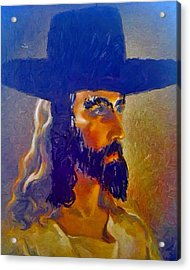 Acrylic Print featuring the painting The Man by Lisa Piper