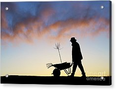 The Man Who Plants Trees Acrylic Print by Tim Gainey