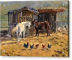 The Manger Acrylic Print by Margaret Merry