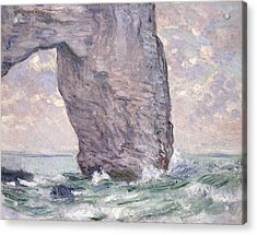 The Manneporte Seen From Below Acrylic Print by Claude Monet