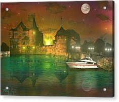 The Mansion Acrylic Print by Michael Rucker
