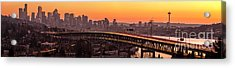 The Many Shades Of Seattle Sunset Acrylic Print by Mike Reid