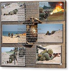 The Marine Corp Hymn Acrylic Print by Thomas Woolworth