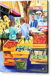 The Market Acrylic Print
