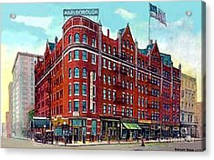 The Marlborough Hotel In New York City In 1909 Acrylic Print by Dwight Goss