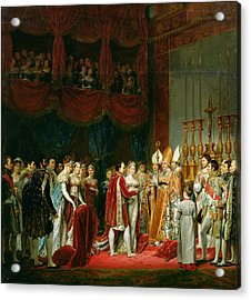 The Marriage Of Napoleon I 1769-1821 And Marie Louise 1791-1847 Archduchess Of Austria, 2nd April Acrylic Print by Georges Rouget