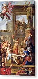 The Martyrdom Of Saint Adrian Acrylic Print by Adrien Sacquespee