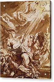 The Martyrdom Of Saint Catherine Acrylic Print by Sir Anthony van Dyck