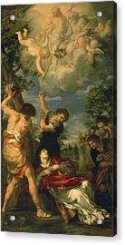 The Martyrdom Of Saint Stephen, 1660 Oil On Canvas Acrylic Print by Pietro da Cortona