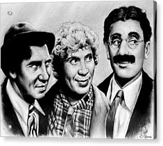 The Marx Brothers Acrylic Print by Andrew Read
