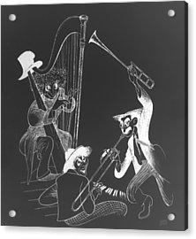 The Marx Brothers B W Acrylic Print by Rob Hans