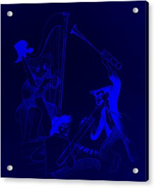 The Marx Brothers Blue Acrylic Print by Rob Hans