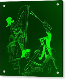The Marx Brothers Green Acrylic Print by Rob Hans