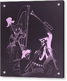 The Marx Brothers Pink Acrylic Print by Rob Hans