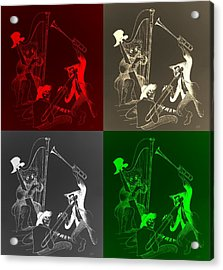 The Marx Brothers Quad Colors Acrylic Print by Rob Hans