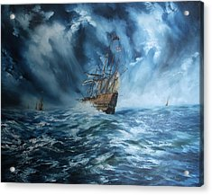 The Mary Rose And Fleet Acrylic Print by Jean Walker