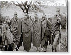 The Masai Acrylic Print by Shaun Higson