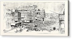 The Mass Meeting At The Statue Of Henry Clay In Canal Acrylic Print by English School