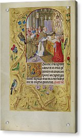 The Mass Of Saint Gregory Master Of The Lübeck Bible Bruges Acrylic Print