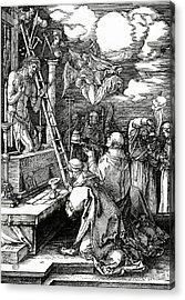 The Mass Of St. Gregory Acrylic Print by Albrecht Duerer