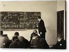 Year 1956 The Math Teacher  Acrylic Print
