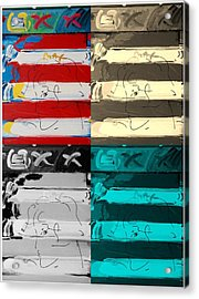 The Max Face In Quad Colors Acrylic Print by Rob Hans