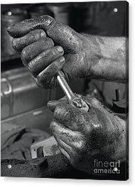 The Mechanic Acrylic Print by The Harrington Collection