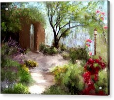 The Meditative Garden  Acrylic Print