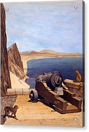 The Mediterranean Battery, Gibraltar Acrylic Print by Captain J. M. Carter