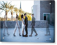The Meet Acrylic Print by Bill Cantey