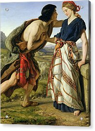 The Meeting Of Jacob And Rachel Acrylic Print by William Dyce